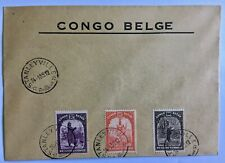 Belgian Congo Belge cover with 3 values cancelled Stanleyville January 1939