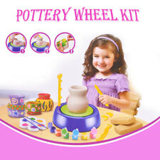 Bginners Pottery Wheel Kit for Kids with Clay Paints and Tools DIY Toy Crafts