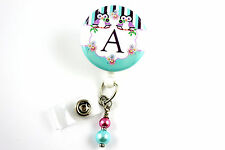 Personalized Owl Badge - Retractable ID Name Nurse Badge Holder Reel RN Lanyard