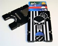 3% American Flag Punisher, Aluminum Wallet/Credit Card Holder, RFID Protection