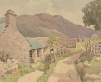 V. Carter - Mid 20th Century Watercolour, Cottages and Mountain