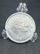 1968 Bacchus Mardi Gras New Orleans 1982 Aluminum Coin Token Heroes And Heroin