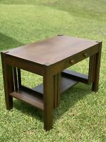 Arts & Crafts Mission Oak Antique Library Table or  Desk