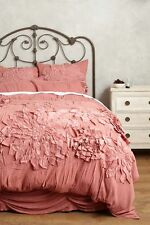 ANTHROPOLOGIE Georgina FULL Duvet Cover Dusty Pastel Rose/Pink Bedding NEW