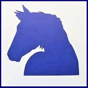 Flexible Stencil *HORSE HEAD SILHOUETTE* Small or Medium Card Making Crafts