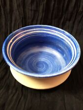 Swedish Studio pottery Margaretha Borgehed Sweden Blue small Bowl Scandinavian