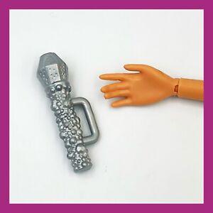 ❤️Mattel Barbie Doll Accessory Silver MICROPHONE❤️