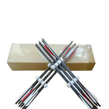 12PK 18 20 22 inches pure carbon arrow bolts crossbow arrows for archery hunting