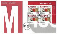 2005 #2104 Maclean's Magazine UR PL BLK FDC with CP cachet