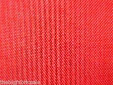 BULK BUY 10 Metre Red Orange Linen look Curtain Upholstery Fabric Material SALE!