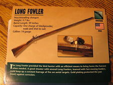 Long Fowler Muzzle Loading Shotgun Gun / Firearms Facts Card