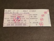 TICKET STUB AUGUST 16 1987 NEW YORK YANKEES VS  CLEVELAND INDIANS EXCELLENT