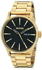 New Authentic NIXON Mens Watch Sentry SS All Gold / Black A356-510 A356510