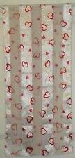 TERRIART Red, White Hearts Sheer Stripes 57x13 Long Scarf-Vintage
