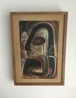 Vtg Mid Century Abstract Expressionism Original Oil Painting William Gamble 1949