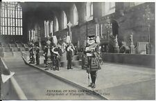 VINTAGE ROYALTY POSTCARD,THE LYING-IN-STATE OF H.M.KING EDWARD VII