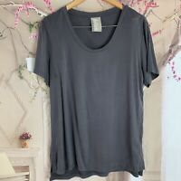 Anthropologie Dolan Woman's Gray Silky Tee Shirt Size Large