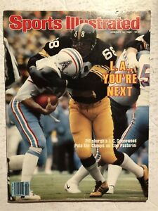 1980 Sports Illustrated PITTSBURGH STEELERS vs OILERS Pastorni GREENWOOD No Lab