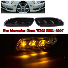 Euro Smoked Lens Amber LED Side Marker Lights For 01-07 Mercedes W203 C-Class
