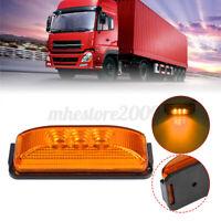 2PCS Amber 3-LED Side Marker Lights Truck Trailer Clearance Light Waterproof