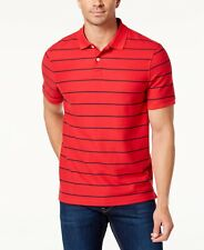 $82 Club Room Men Red Blue Stripe Casual Short-Sleeve Button Polo Shirt Size 3xl