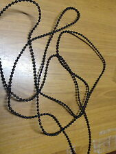 BLACK PLASTIC BALL CHAIN FOR ROLLER BLINDS CONTINUOUS 1 METRE DROP  BLOCKOUT