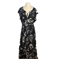 City Chic Womens Plus Size Maxi Flared Sleeves Dress Size L.