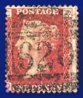 1870 SG43 1d Red Plate 139 MISPERF QC Plymouth 620 Excellent Perfs cv£20 ajui