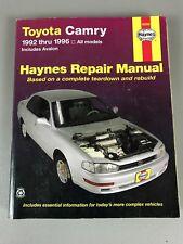 Toyota Camry Haynes Repair Manual 1992 Thru 1996 All Models 92006
