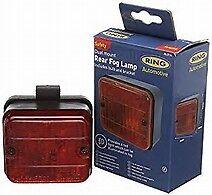 NUOVO in scatola RING RL014 Sicurezza Posteriore/Luce Antinebbia è dotato di staffa e lampadina