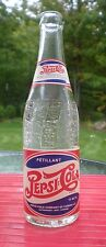 Vintage 1941 Pepsi Cola bottle 12 oz Embossed Double Dot - Paper Label French