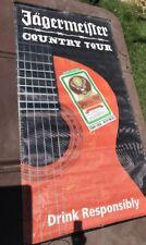 COUNTRY TOUR Music Show Used 4 x 9 Jägermeister Flag Banner Vinyl Poster Guitar