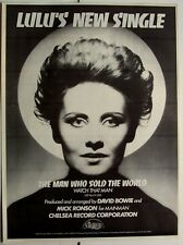 Lulu 1974 Poster Ad The Man Who Sold The World david bowie