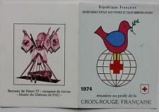 CARNET DE 8 TIMBRES - EMISSION AU PROFIT DE LA CROIX-ROUGE FRANCAISE - 1974