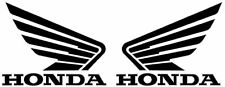 Honda logo wings black/silver 110mm x 85mm CBR RVF VFR vinyl stickers #ST011#