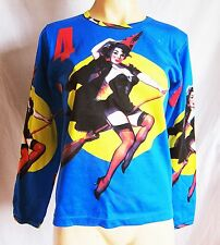 Retro Pin Up witch/kitch/rocabilly T shirt, size S 8-10