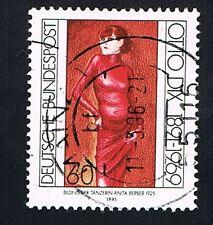 GERMANIA 1 FRANCOBOLLO OTTO DIX ANITA BERBER 1991 usato
