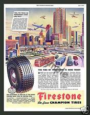 FIRESTONE TIRES - Vintage Ad - Fridge Magnet