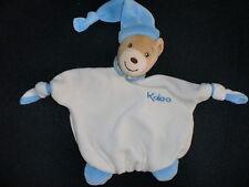 doudou plat ours blanc et bleu KALOO