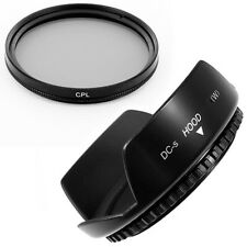 55mm Lens Hood Flowe Petal,CPL Filter for Panasonic Lumix DMC-FZ50 FZ30 Camera