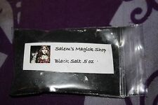 Black salt 1/2 oz, wicca spells