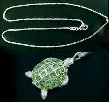 925 silver unique lovely tortoise pendant necklace