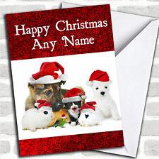 Animaux de Noël personnalisés carte personnalisé