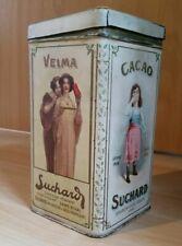 Herrliche antik Cacaodose Blechdose Suchard  cacao Jugendstil Velma Original tin