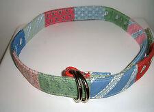 Women's VINEYARD VINES Patchwork Belt - D Ring - Size Medium