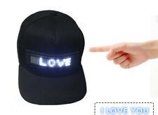 LED Display Screen Hat Lighted Glow Club Party Hip-hop Flash Cap Men Women