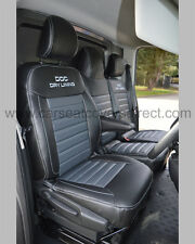 Opel Vivaro Seat Covers - Black with Grey Centres. 3rd Gen (2014-Present)