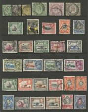 K.U.T. A MAINLY FINE USED GV & GVI COLLECTION OF 32 STAMPS ,SEE SCAN