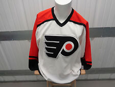 VINTAGE CCM NHL PHILADELPHIA FLYERS LARGE SEWN WHITE/AWAY PRE-OWNED IN VG 00s