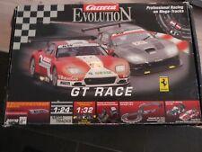 Carrera Evolution 25116 GT RACE komplett und einsatzbereit mit Brücke Steilkurve